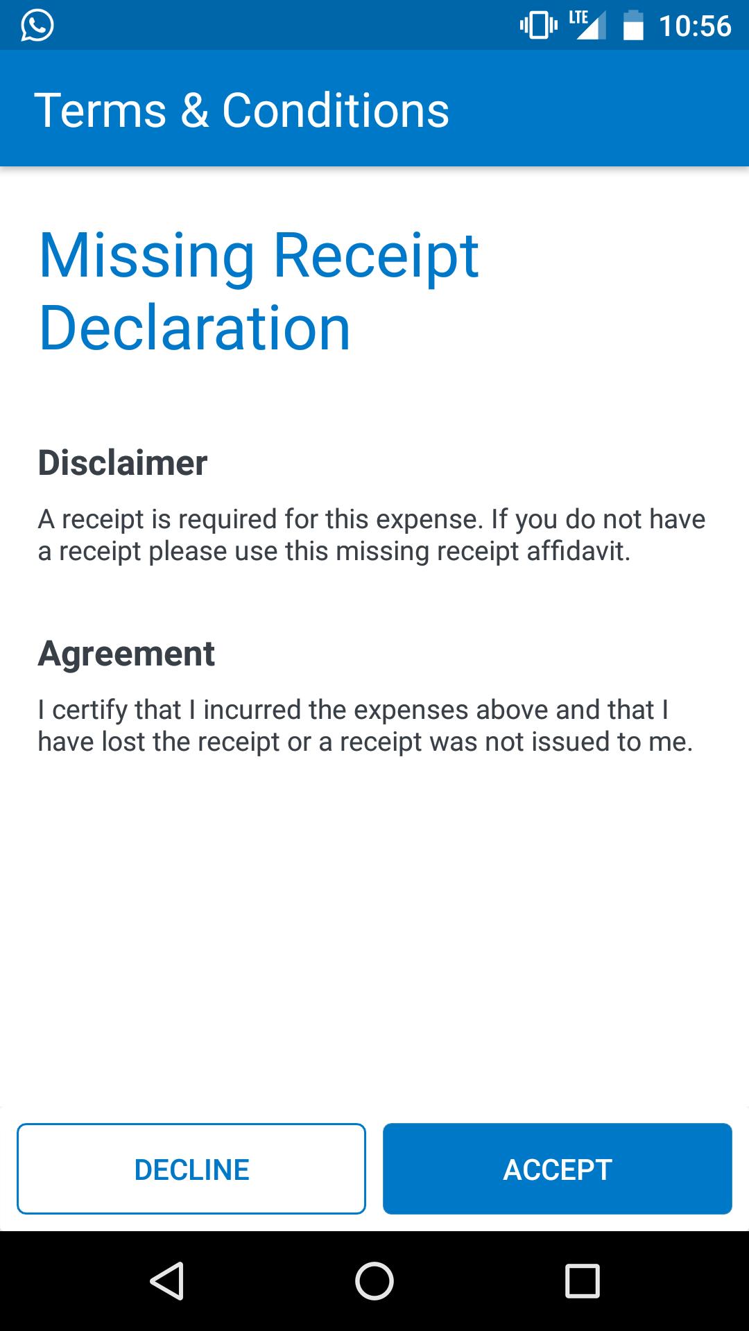 Solved Missing Receipt Affidavit Sap Concur Community